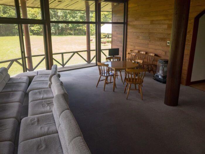 なかやま荘の共有スペース