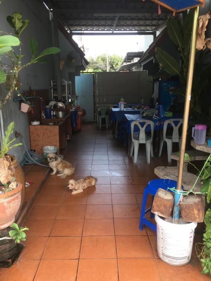 チャンプのラーメン屋さんの飲食スペース