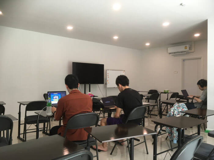 ISARAの教室の内部