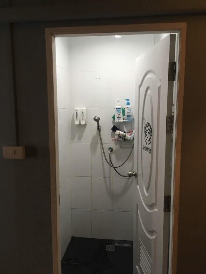2階のシャワー