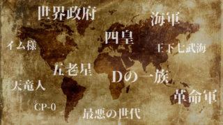 【ワンピース】キャラクターカテゴリ別一覧まとめ【簡易版】
